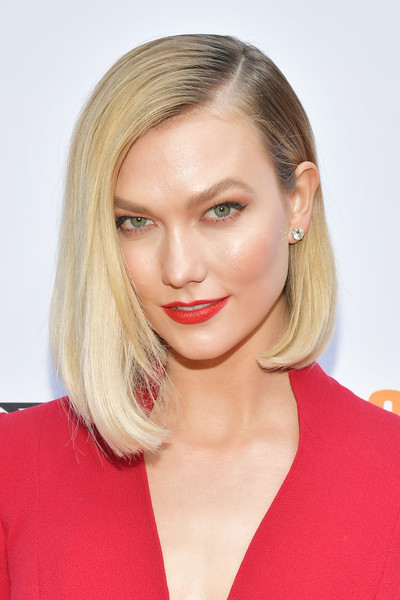 Karlie Kloss Asymmetrical Cut [top chef,project runway,hair,face,blond,hairstyle,eyebrow,lip,chin,beauty,shoulder,cheek,karlie kloss,fashion,vibiana,los angeles,california,bravo,a night of food and fashion fyc,red carpet event,karlie kloss,beauty,project runway,blond,fashion,lipstick,lips,red carpet,model,supermodel]