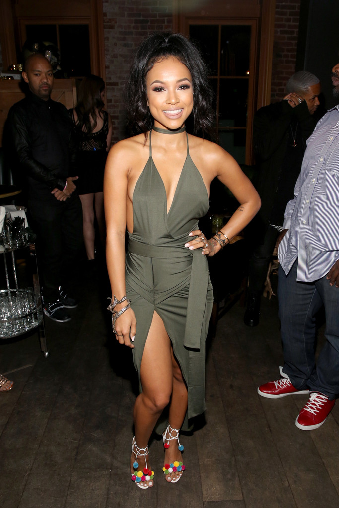 Karrueche Tran Halter Dress Karrueche Tran Looks