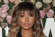 Kat Graham Long Wavy Cut with Bangs