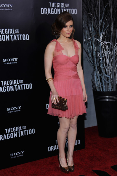 Kate Mara Sequined Clutch