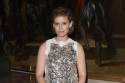 Kate Mara Metallic Clutch