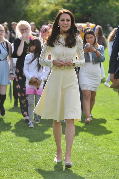 Kate Middleton Cocktail Dress [fashion,clothing,lady,street fashion,event,spring,footwear,dress,long hair,fashion design,catherine,children,duchess,grounds,cambridge,buckingham palace,england,party at the palace,forces,tea party]