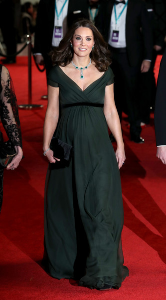 Kate Middleton Empire Gown [fashion model,flooring,gown,carpet,dress,fashion,beauty,red carpet,formal wear,shoulder,catherine middleton,duke,british academy film awards,duchess,red carpet,fashion model,cambridge,ee,bafta,british academy of film and television arts,catherine duchess of cambridge,71st british academy film awards,british academy film awards,british academy of film and television arts,british academy television awards,wedding of prince william and catherine middleton,united kingdom,times up,red carpet]