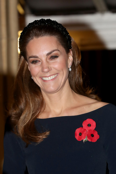 Kate Middleton Long Wavy Cut [the royal family attend the annual royal british legion festival of remembrance,hair,face,hairstyle,beauty,smile,shoulder,eye,lip,brown hair,dress,members,queen,catherine,duchess,cambridge,royal albert hall,england,london,royal british legion festival of remembrance]