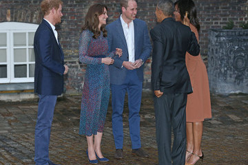 Kate Middleton Prince Harry The Obamas Dine at Kensington Palace