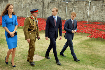 Kate Middleton Prince Harry British Royals Visit the Tower of London — Part 2