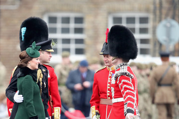 Kate Middleton Prince William The Duke And Duchess Of Cambridge Attend The Irish Guards St Patrick's Day Parade
