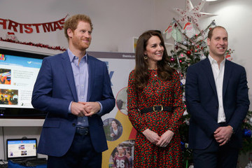Kate Middleton Prince William The Duke And Duchess Of Cambridge & Prince Harry Attend The Mix Christmas Party