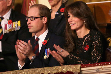 Kate Middleton Prince William The Royal Family Attends the Annual Festival of Remembrance