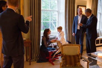 Kate Middleton Prince William The Obamas Dine at Kensington Palace