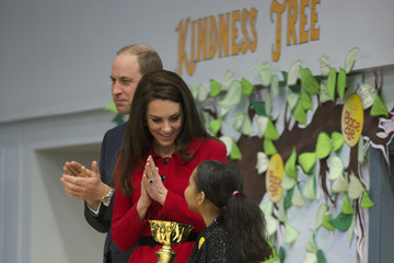 Kate Middleton Prince William The Duke & Duchess Of Cambridge Attend Place2BeBig Assembly With Heads Together For Children's Mental Health Week