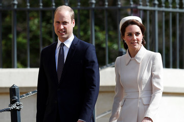 Kate Middleton Prince William The Royal Family Attend Easter Day Service in Windsor