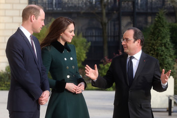 Kate Middleton Prince William The Duke And Duchess Of Cambridge Visit Paris: Day One