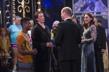Kate Middleton Prince William The Duke & Duchess Of Cambridge Attend The Royal Variety Performance