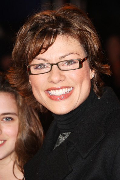 Kate Silverton Layered Razor Cut [the twilight saga: new moon - uk,twilight: new moon,hair,face,glasses,eyewear,facial expression,eyebrow,hairstyle,smile,chin,beauty,kate silverton,battersea evolution,england,london,fan event,fan event]