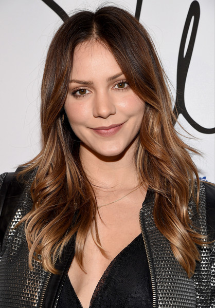 Katharine McPhee Long Wavy Cut [tyler ellis celebrates 5th anniversary and launch of tyler ellis,katharine mcphee,hair,hairstyle,eyebrow,long hair,layered hair,brown hair,beauty,hair coloring,blond,forehead,california,los angeles,chateau marmont,petra flannery collection]