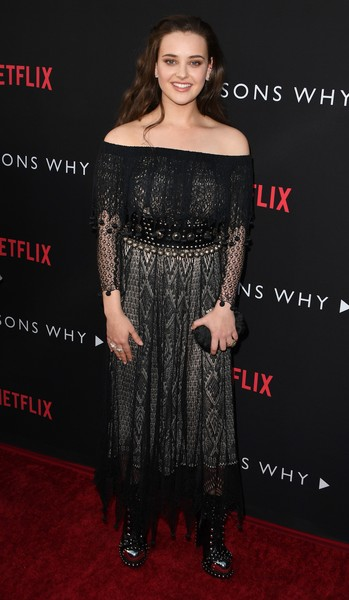 Katherine Langford Off-the-Shoulder Dress