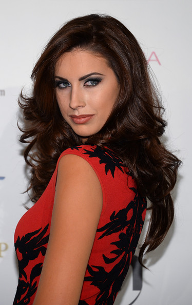 Katherine Webb Long Wavy Cut