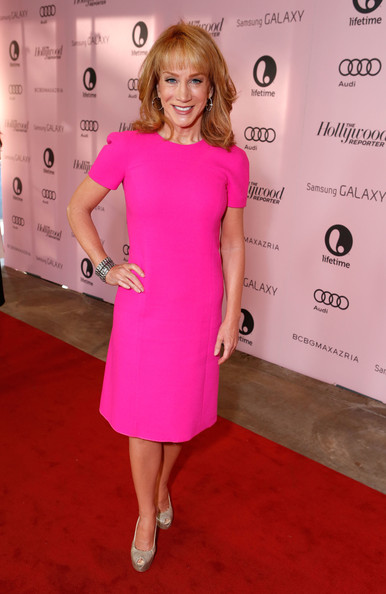 Kathy Griffin Cocktail Dress [red carpet,the hollywood reporter,power 100: women in entertainment breakfast,pink,flooring,dress,beauty,fashion model,shoulder,magenta,lady,carpet,joint,kathy griffin,beverly hills hotel,california,hollywood reporter,power 100: women in entertainment]