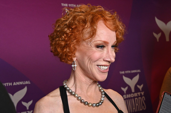 Kathy Griffin Short Curls [hair,hairstyle,blond,smile,singer,singing,kathy griffin,shorty awards,cocktail hour,playstation theater,new york city,11th annual shorty awards]