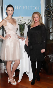 Kathy Hilton looked oh-so-fashionable in a beaded LBD at the launch of her collection.