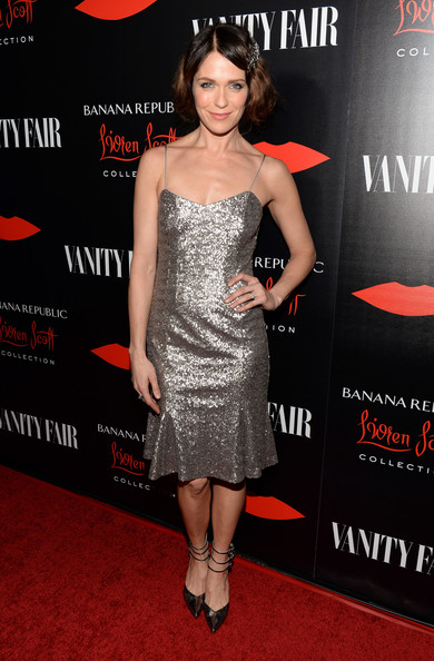 Katie Aselton Beaded Dress