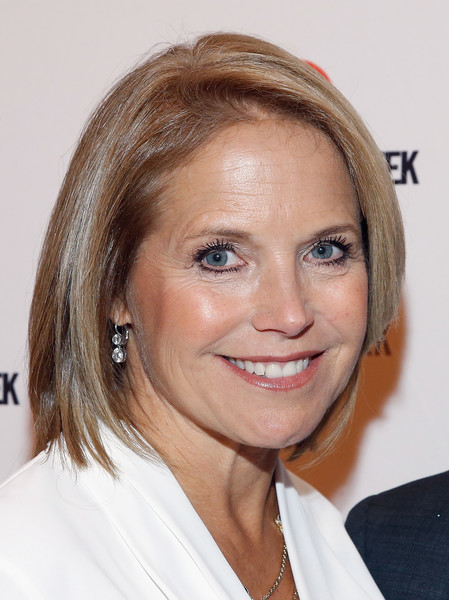 Katie Couric Bob [the wild ride,hair,face,hairstyle,eyebrow,blond,chin,forehead,head,lip,brown hair,katie couric,new york,times center stage,panel,white house,elections]