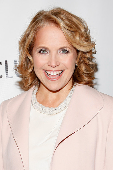 Katie Couric Curled Out Bob [hair,face,blond,hairstyle,skin,shoulder,eyebrow,beauty,lip,chin,larry king,honors,katie couric,new york city,sheraton new york hotel towers,friars club,dinner gala]