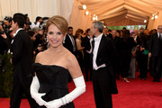 Katie Couric Strapless Dress