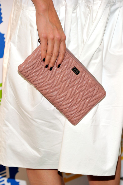 Katie Holmes Quilted Clutch