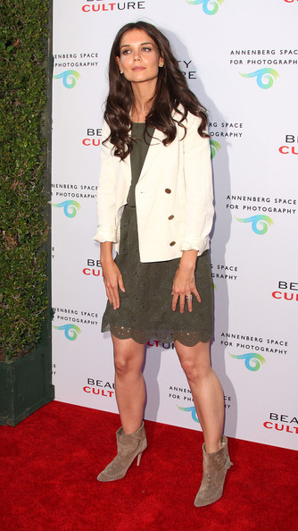 Katie Holmes Blazer [clothing,red carpet,carpet,fashion,outerwear,footwear,long hair,flooring,premiere,leg,beauty culture,annenberg space for photography - arrivals,century city,california,the annenberg space for photography,katie holmes]