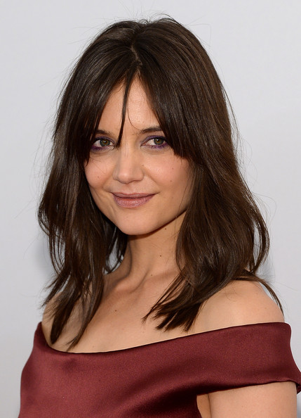 Katie Holmes Medium Layered Cut [hair,face,hairstyle,shoulder,layered hair,eyebrow,chin,brown hair,long hair,beauty,new york city,sva theater,miss meadows premiere,tribeca film festival,katie holmes]