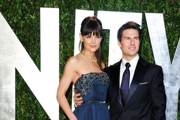 Katie Holmes Tom Cruise 2012 Vanity Fair Oscar Party Hosted By Graydon Carter - Arrivals