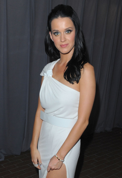 Katy Perry Gemstone Bracelet [white,clothing,shoulder,beauty,dress,lady,fashion,arm,leg,hairstyle,katy perry,beverly hills,california,art of elysium,3rd annual black tie charity gala ``heaven,3rd annual black tie charity gala heaven]