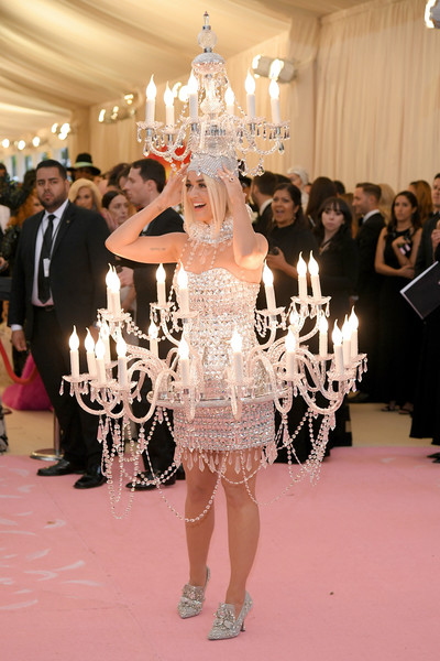 Katy Perry Beaded Dress [white,fashion,lighting,dress,event,pink,flooring,haute couture,fashion accessory,ceremony,fashion - arrivals,katy perry,notes,fashion,new york city,metropolitan museum of art,met gala celebrating camp]