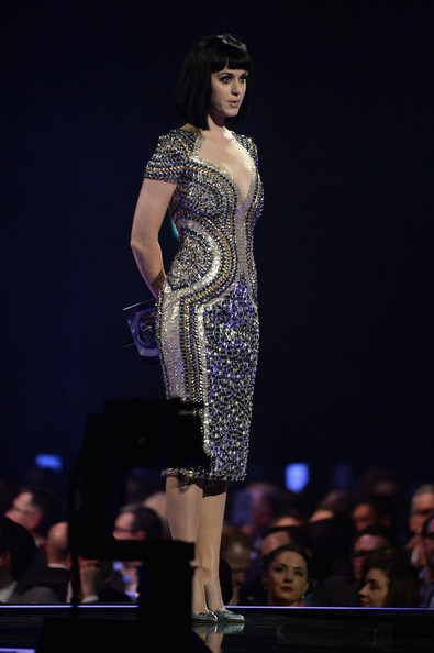Katy Perry Beaded Dress [fashion model,fashion show,fashion,clothing,runway,dress,fashion design,model,beauty,event,katy perry,british single,award,london,england,brit awards]