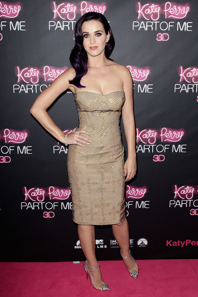 Katy Perry Studded Heels [dress,clothing,shoulder,cocktail dress,pink,strapless dress,premiere,carpet,fashion,red carpet,katy perry: part of me,katy perry: part of me australian premiere,australian,sydney,katy perry]