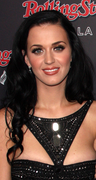 Katy Perry Long Curls [hair,eyebrow,hairstyle,black hair,lip,chin,brown hair,nose,long hair,beauty,arrivals,katy perry,vip,california,los angeles,rolling stone,ama,party]