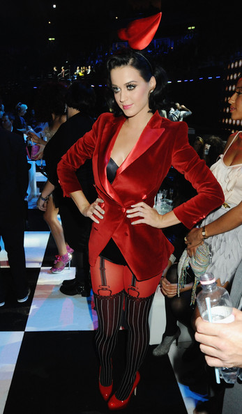 Katy Perry Blazer [katy perry,mtv europe music awards 2009 - show,fashion,fashion model,costume,girl,haute couture,latex clothing,fashion design,flooring,berlin,germany,o2 arena]