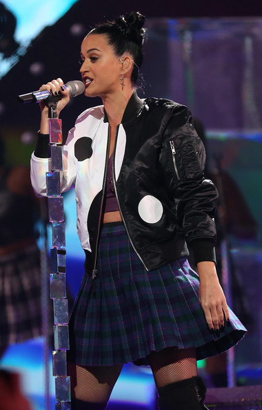 Katy Perry Bomber Jacket [performance,music artist,entertainment,singing,performing arts,singer,song,public event,event,music,las vegas,nevada,mgm grand garden arena,iheartradio music festival,katy perry]