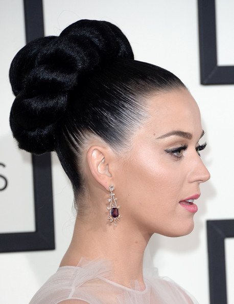 Short prom hairstyles zimbio - Singer Katy Perry Attends The 56th Grammy Awards At Staples Center On