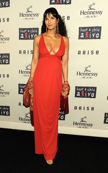 More Pics of Padma Lakshmi Dangling Gemstone Earrings (1 of 3) - Padma Lakshmi Lookbook - StyleBistro