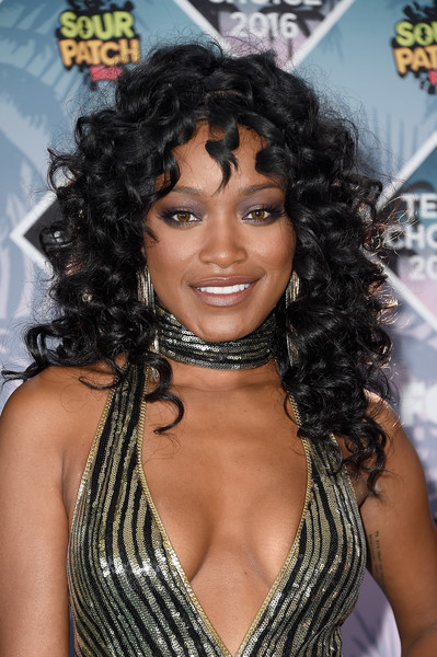 Keke Palmer Long Curls with Bangs