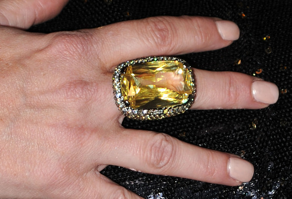Kelly Brook Cocktail Ring [ring,finger,yellow,fashion accessory,jewellery,amber,gemstone,hand,engagement ring,body jewelry,arrivals,kelly brook,crest 3d white,breakthrough of the year awards,west hollywood,california,pacific design center]