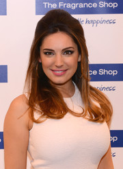 Kelly Brook sported a retro-chic half-up 'do during the launch of her new perfume.