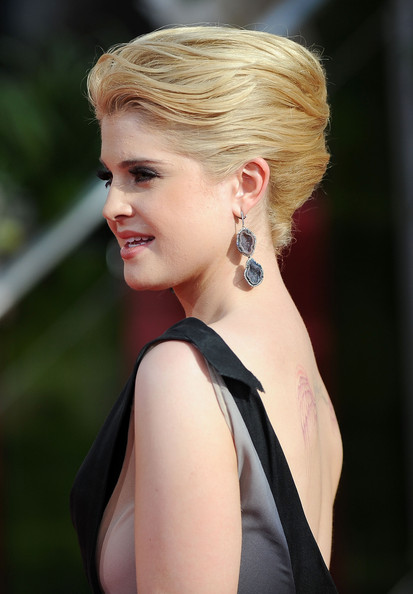 Kelly Osbourne Dangling Gemstone Earrings