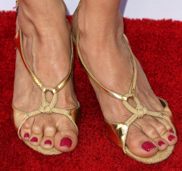 Kelly Preston Strappy Sandals Kelly Preston Looks