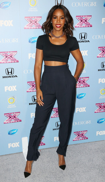 Kelly Rowland High-Waisted Pants