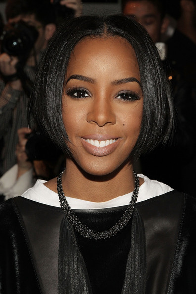 Kelly Rowland Bob [hair,face,eyebrow,hairstyle,black hair,lip,beauty,forehead,chin,long hair,kelly rowland,front row,new york city,public school,milk studios,made fashion week,fashion show]