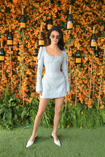Kendall Jenner Corset Dress [beauty,lady,dress,girl,flower,standing,shoulder,grass,plant,photo shoot,kendall jenner,ninth,los angeles,pacific palisades,california,will rogers state historic park,veuve clicquot polo classic]